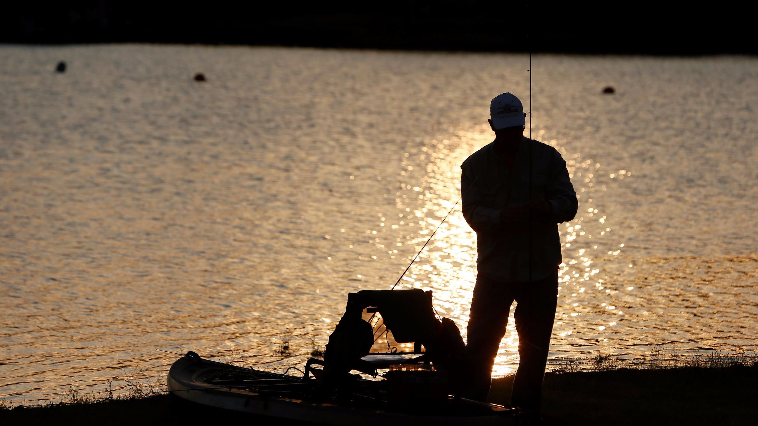 Fishing at Dusk in City Park