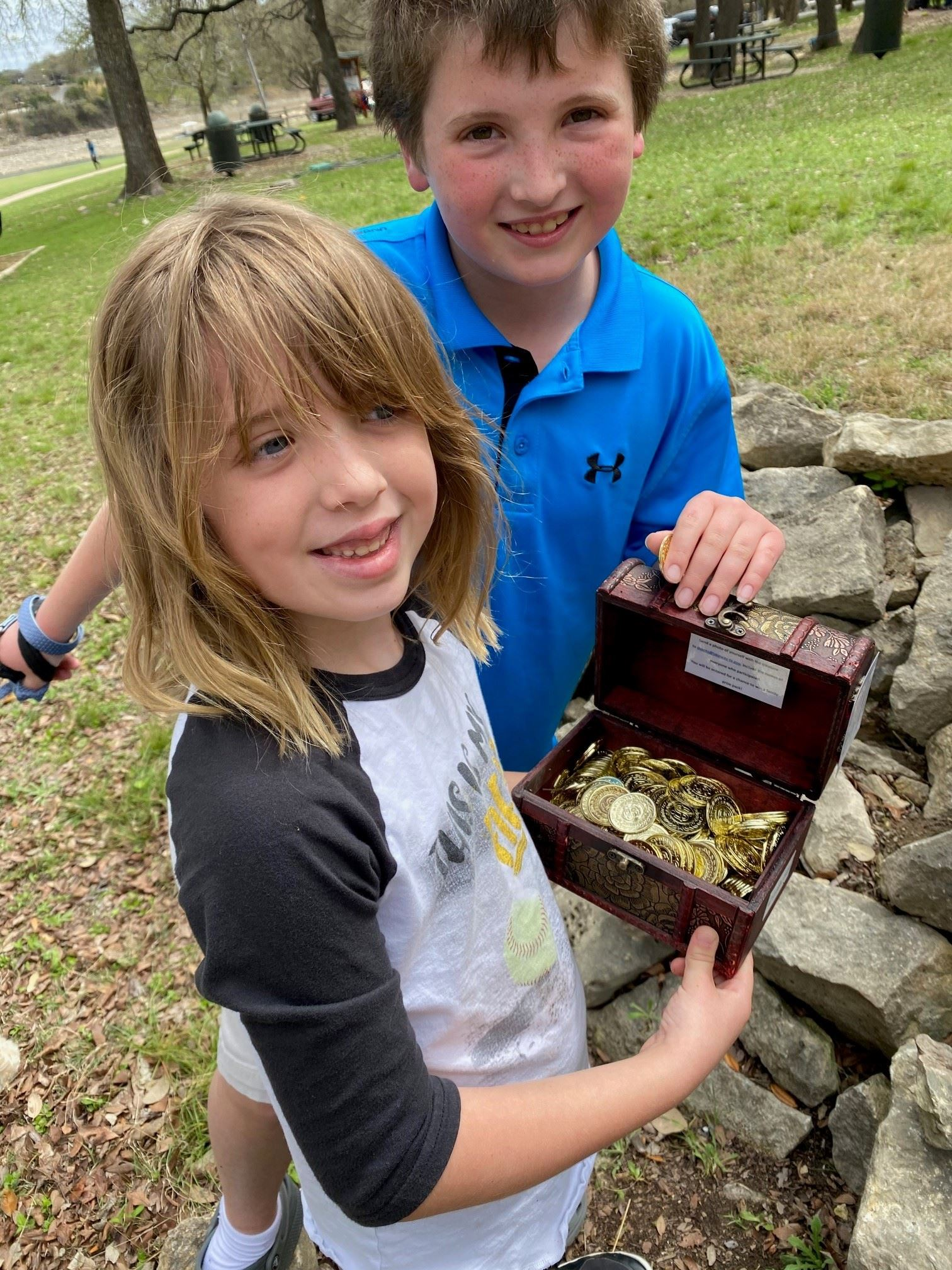 Compass Treasure Hunt - Winners - Carter and Brooklyn - Lendecky Family